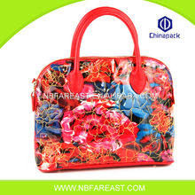 Designer most popular Durable flower reusable shopping bag folding nylon bag