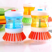 Hot Sale Silicone Clean Kitchen Dish Brush With Soap Dispenser