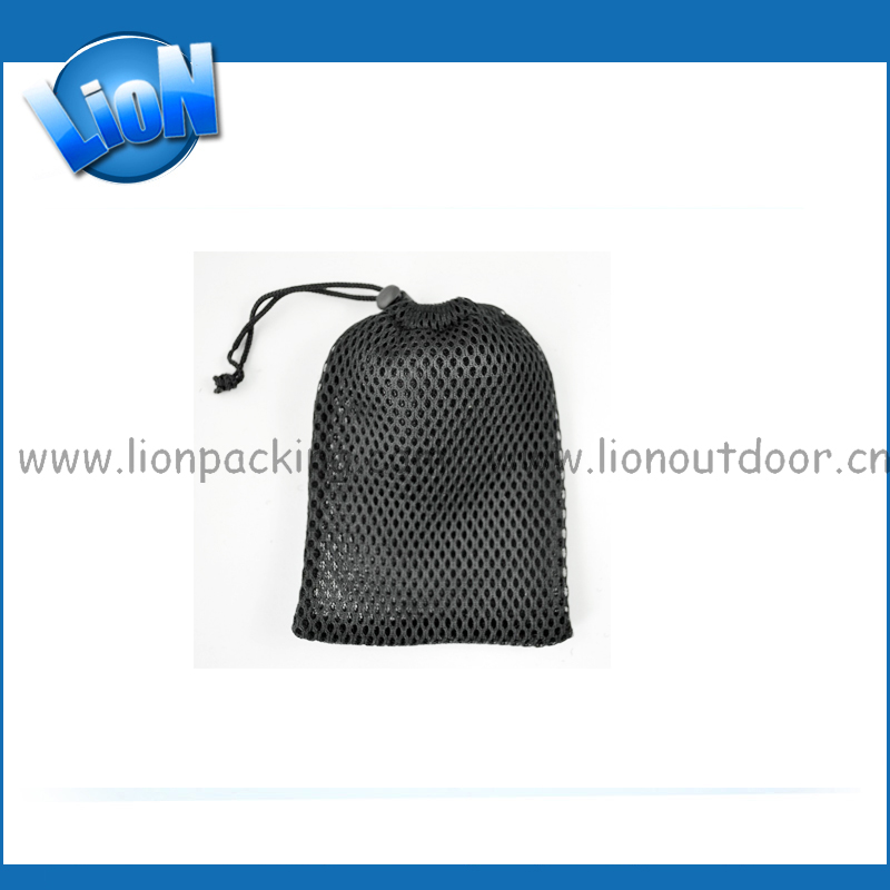 Wholesale small cheap mesh cosmetic gift bags with custom logo