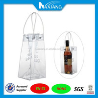 Alibaba High Quality clear pvc ice bag for champagne / wine cooler