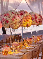 crystal wedding pillars for stage and wedding centerpiece floral crystal flower stand
