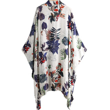 Custom Your Own Style Floral Robe Sexy Women Casual Soft Longline Chiffon Kimono Clothing