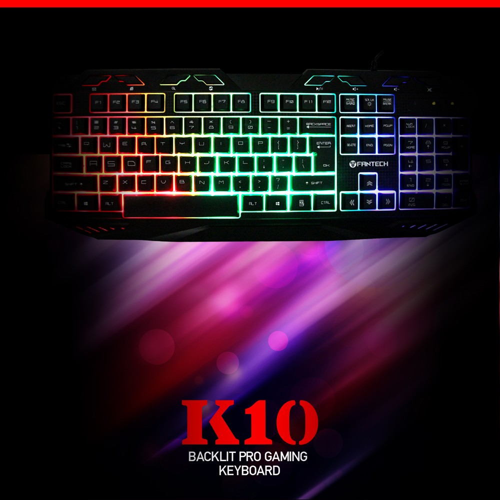 Colorful LED Backlit Game USB Wired PC Laptop Keyboard