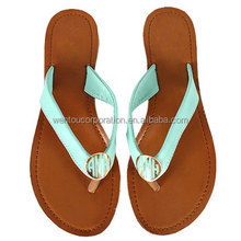 Wholesale Custom Summer Latest Fashion Personalized Monogrammed Sandals