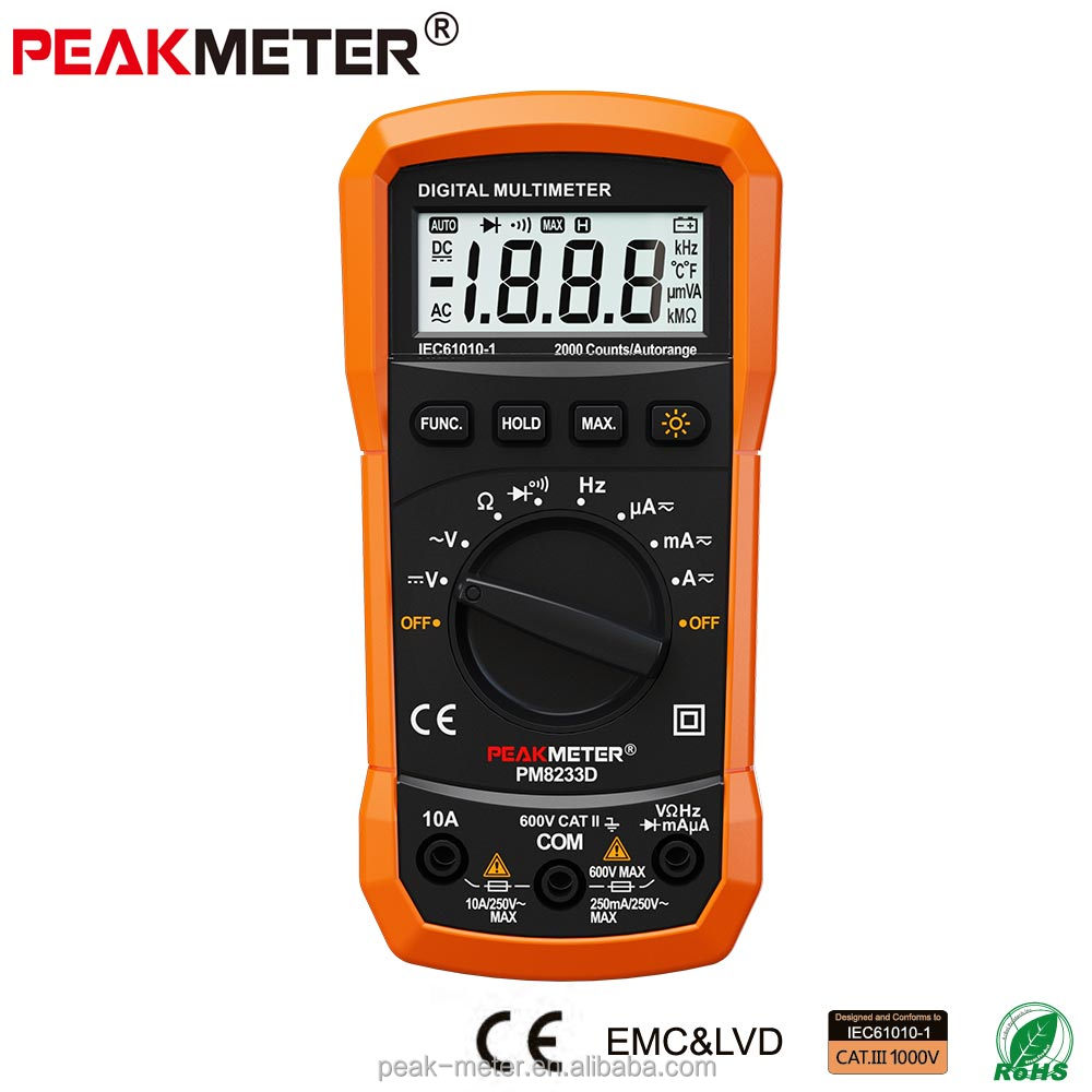 Best China modern Voltage Measurement AC DC Multimeter Digital PM8233D with Rohs