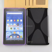 X Line Soft TPU Silicone Cover Case for Amazon New Kindle Fire 7 2015