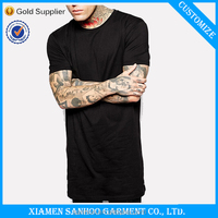 Men'S Comfortable T-Shirt Mens 100% Cotton Longline Short Sleeve Tshirt China Supplier OEM