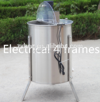 plastic cover 304 stianless steel 4 frames electrical honey extractor
