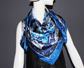 Silk square satin scarf