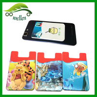 Hot sale silicone 3m sticker smart wallet mobile card holder