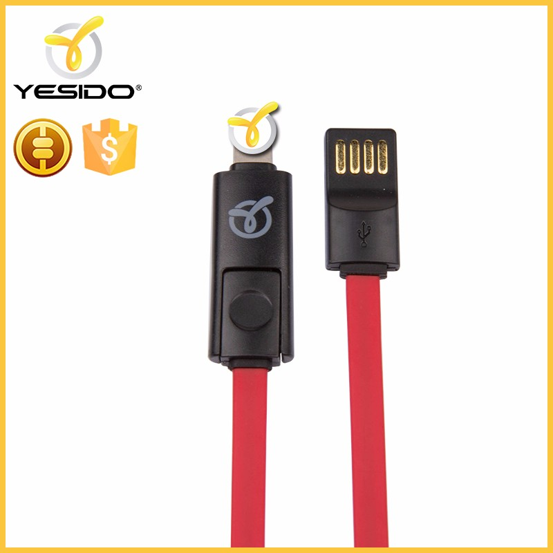 wholesale 2 in 1 usb data cable for trassimission and charging