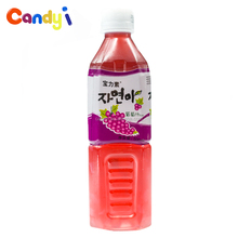 China manufacturer 500ml drink grape juice concentrate drink with pulp