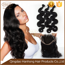 New Arrival 360 Lace Frontal With Bundles,100% Human Hair Ear To Ear 360 Lace Frontal Closure