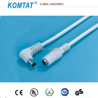 DC cable with LED male and male power plug 220V 5.5*2.1mm cable