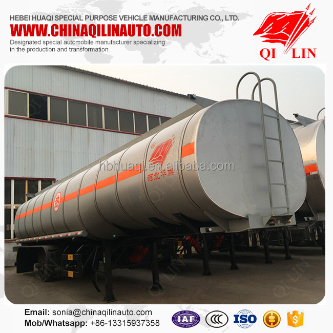 Factory price 3 axles insulated heated asphalt tank semi trailer