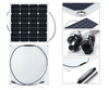 Custom made flexible RV solar panel kits, semi flexible marine solar panels 50w 60w 80w