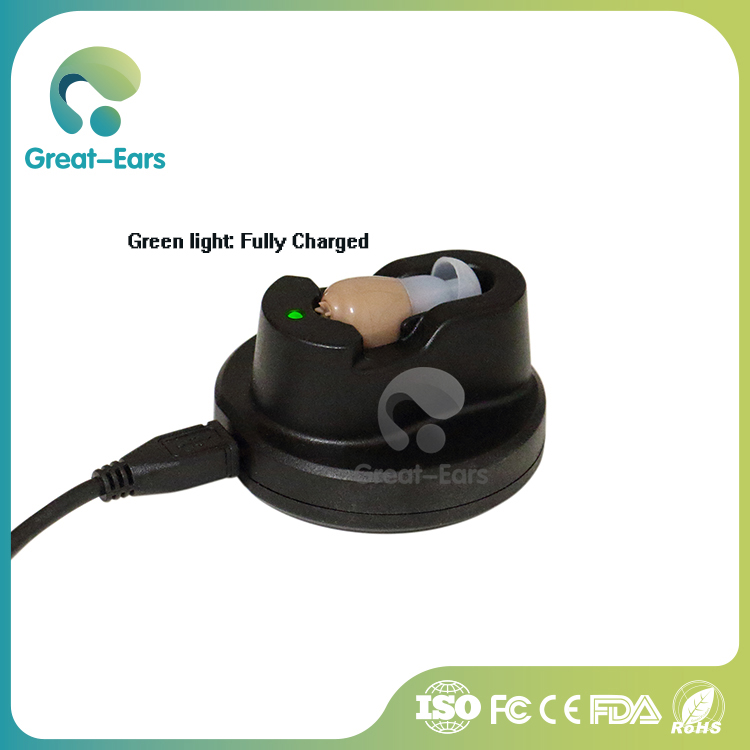 Great-Ears Invisible Rechargeable Hearing Aids for Oldster G12