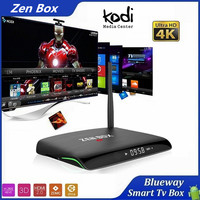 OTT TV Box 4k XBMC Kodi 17.0 Amlogic S905X Quad Core Google Android 6.0 Smart TV Box, Android TV Box