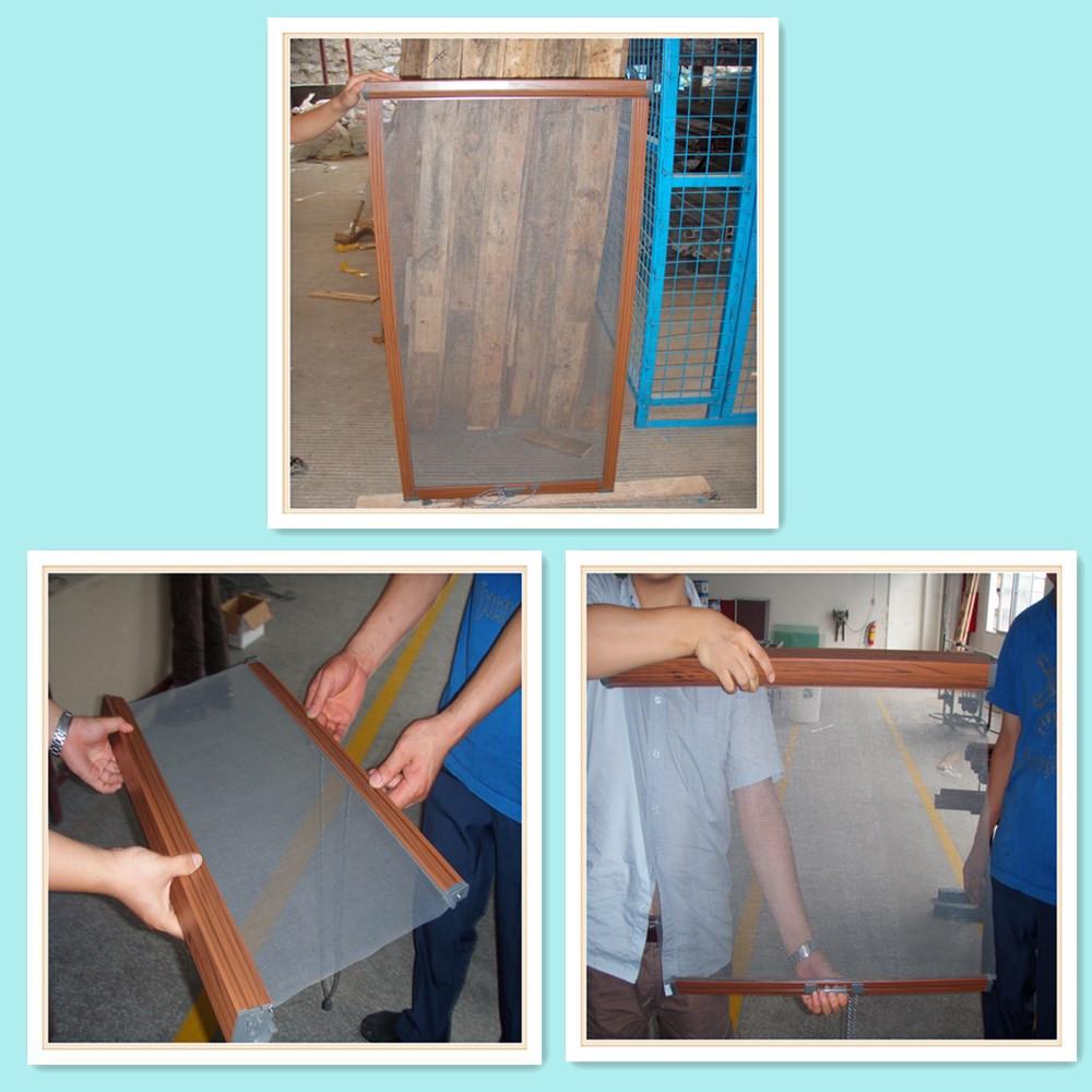 Aluminium security door bi fold door with folding screen for Bi fold screen doors
