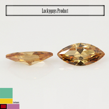 hot sale synthetic gemstone , champagne marquise cut cubic zirconia ,semi-precious stone akik stone