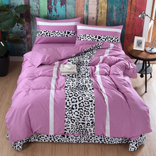 100% cotton bedding sets printed leopard for adult