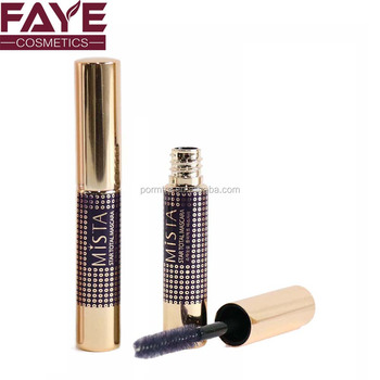 Custom private label electro plating gold color 2ml travel Size Mini mascara tube for promotion