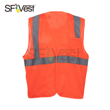 Wholesale Industrial Safety Cool Polyester Reflective With 2 Pockets Vests