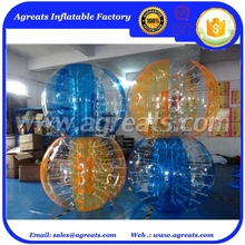 Orange clear alternating bumper ball inflatables body zorb balls 7202