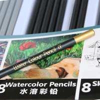 5 Assorted Colors Artist Water Soluble Water Color Pencil Set