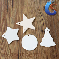 Irregular shape white ceramic christmas ornaments