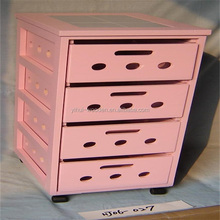 paulownia pink wood cabinet with drawers