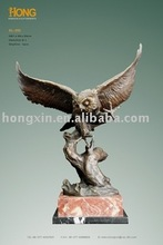 AL-202 brass animal sculpture owl sculpture eagle statue