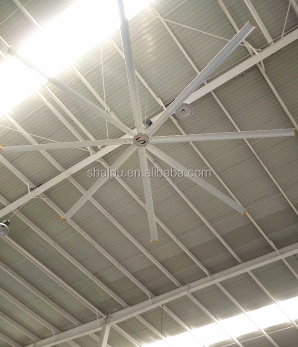 6.1m HVLS Electric Big Ass Ceiling Mount Industrial Fan Power Consumption