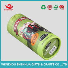 New style green cylinder paper tea canister,packaging box,paper cans