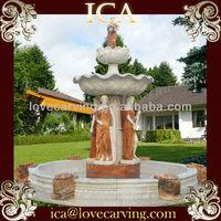 Tall stone fountain,figurine fountain,fountain figure sculpture,garden water fountain drawing,watering can fountain,art fountain