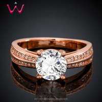 2016 Aliababa.com Hot wedding ring with diamond Jewelry Factory wholesale