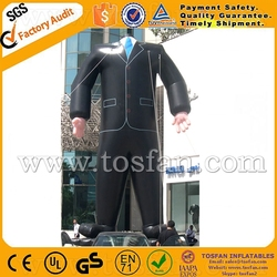 advertising giant inflatables,inflatable business suit,inflatable clothes model F1086
