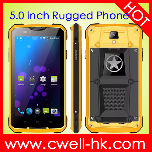 Jeep Z5 DUAL SIM5.0 inch MTK6572 dual core 3G Android rugged phone with GPS and wifi
