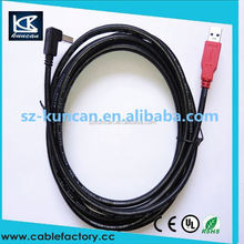 90 degree usb 3.0 A male to micro usb 3.0 male extension cable