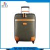 Vintage Trolley Leather Luggage Set Suitcase