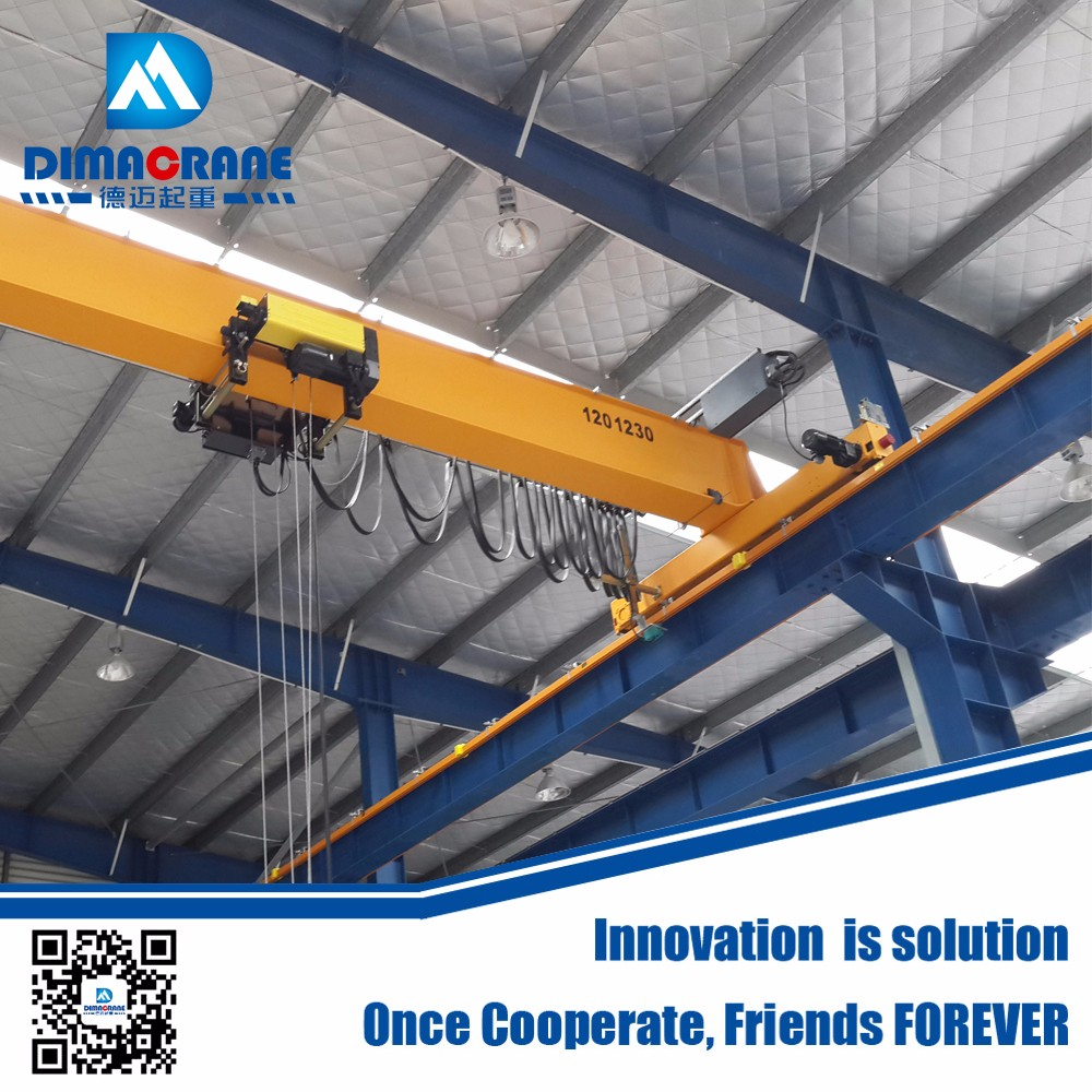 5 ton Europe style derailment proof type single girder workshop electric overhead traveling crane price