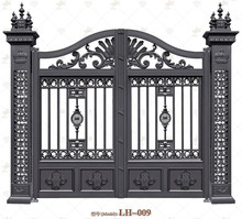 Factory Customize Design Of School Gate Metal Gate Front Gate Designs