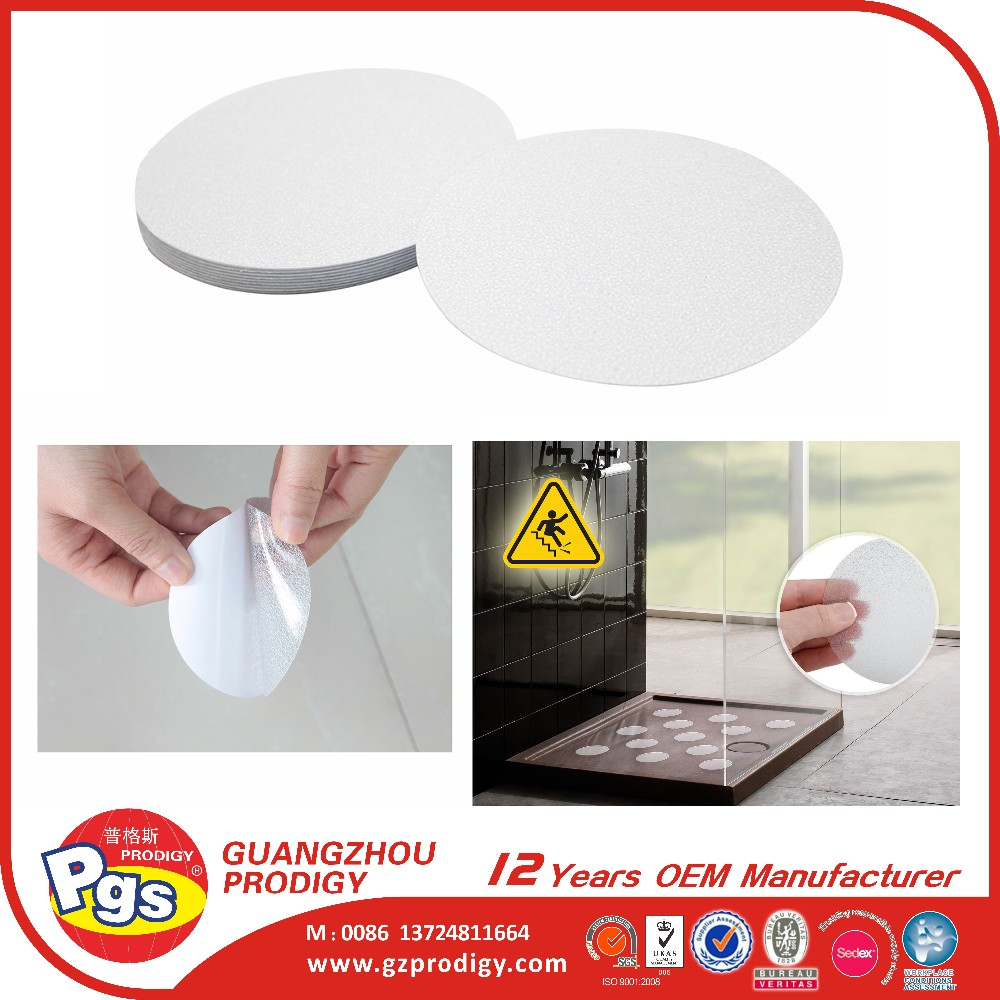 wholesale round shape sticky anti slip pad adhesive waterproof anti slip tape