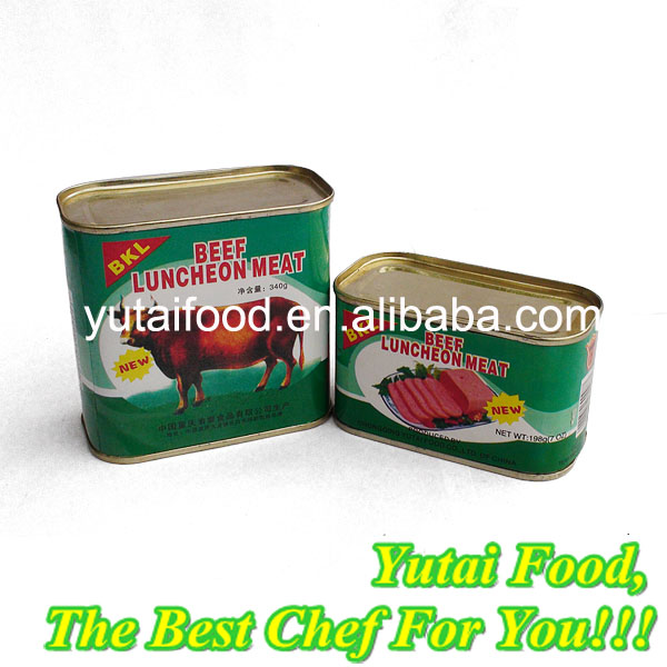 Cheap Canned Food Ready to Eat Beef Luncheon Meat Wholesale
