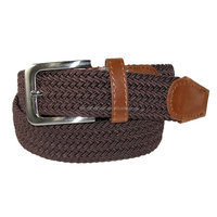 OEM PU leather and cotton men braided belt