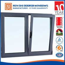 Australia AS2047 standard double glass thermal break aluminium tilt and turn windows with German hardware