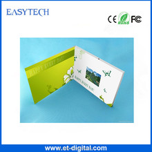 2.4 inch mini size business greeting card LCD screen video brochure for advertising business gift promotion