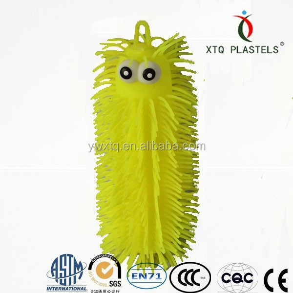 Promotional plastic stretchy caterpillar ball