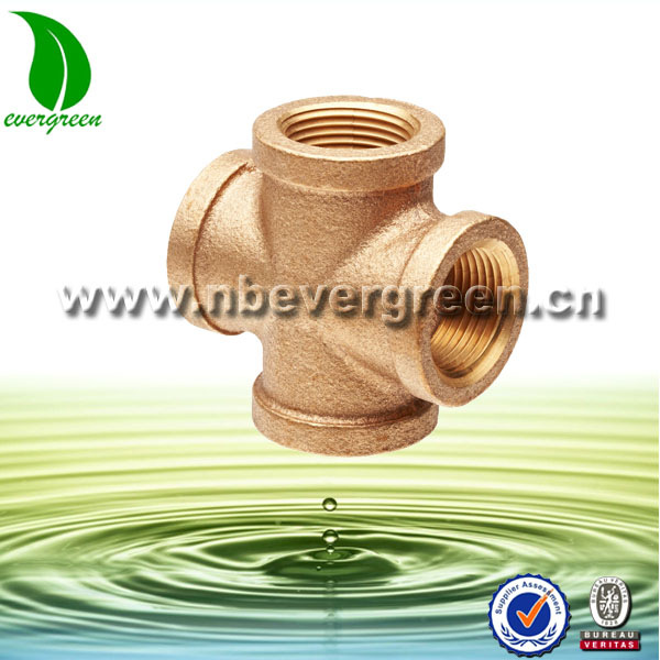Forged Brass Pipe Fitting Female Equal Cross