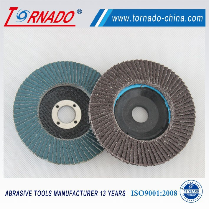 wearproof Brown alumina Flap Disc 100mm T27 For Angle Grinder